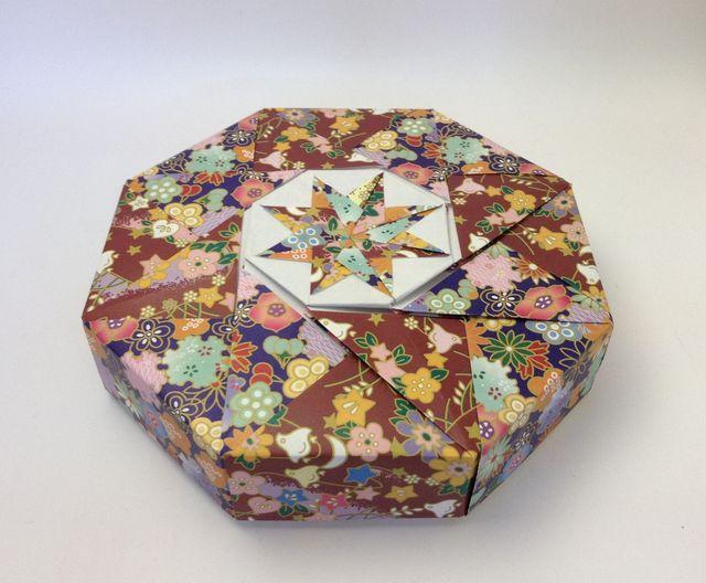 折り方 a4 紙 箱 折り方 : 折り紙:八角箱