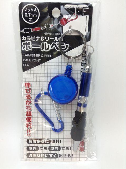 画像:リール付きボールペン(100円ショップ・キャンドゥ)