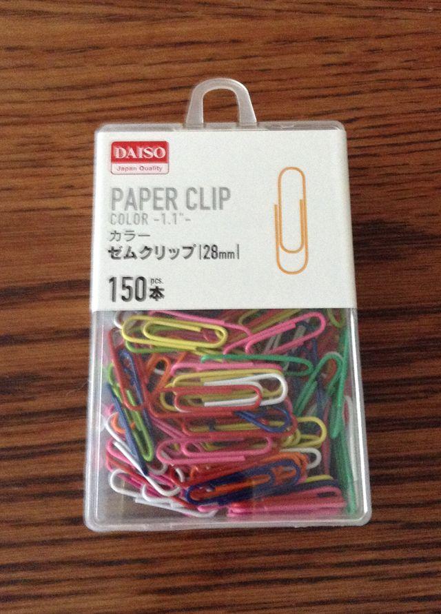 画像:ゼムクリップ28mm(100円ショップ・ダイソー)